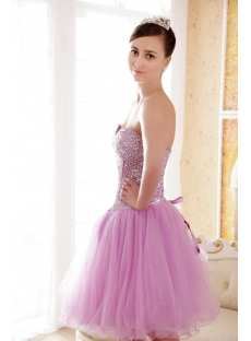 Lilac Short Sweet Sixteen Dress with Sweetheart