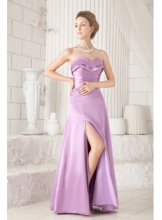 Lilac Slit Graduation Dresses for College