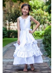 Long Elegant Flower Girl Dresses for Juniors