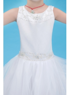 Luxury Girl Mini Wedding Dress with Beads