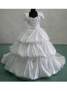 Luxury Mini Bridal Gowns for Flower Girl with Jacket