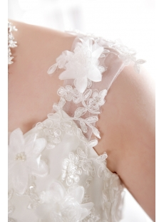 Luxury Puffy Flowers 2013 Bridal Gowns with Straps