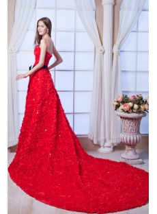 Luxury Red Rose Bridal Gowns 2013 with Black