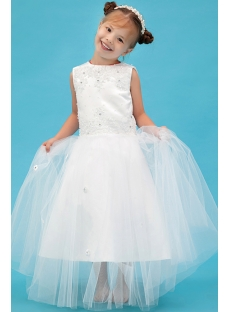 Modern Ivory Mini Flower Girl Dress