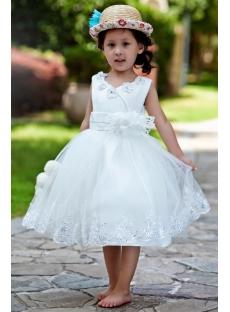 Ostrich Feather Luxury Flower Girl Dress Ball Gown