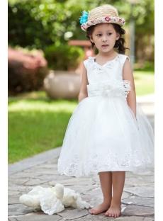 490c862ffc3 Ostrich Feather Luxury Flower Girl Dress Ball Gown 1st-dress.com