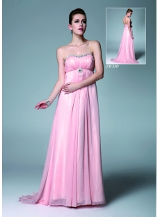 Pink Chiffon Pregnancy Prom Dresses for Wedding