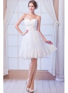 Pretty Short Lace Wedding Dresses 2013
