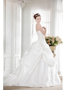 Pretty Taffeta Plus Size Bridal Gown with Corset