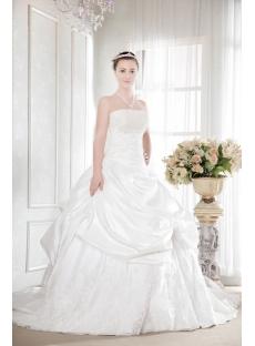 pretty taffeta plus size bridal gown with corset1stdress