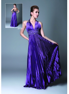 Purple Plunge Graduation Dress for College