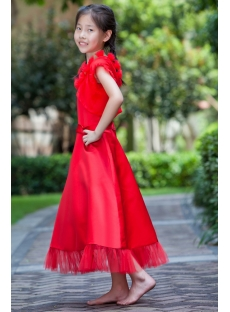 Red Long Cheap Girl Party Dress with Short Jacket