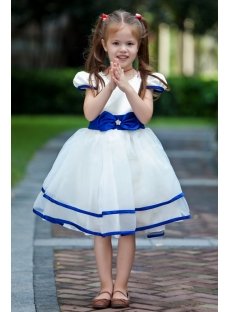 Royal Blue Pretty Flower Girl Dress Discount