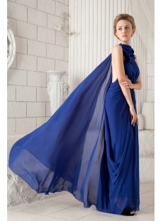 Royal High Neckline 2012 Prom Dress with Backless