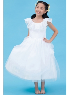Scoop Ruffle Toddler Flower Girl Dress