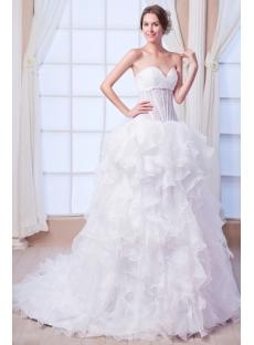 Sexy Beach Ball Gown Wedding Dress for Summer