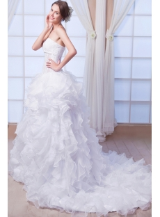 Sexy Beach Ball Gown Wedding Dress for Summer