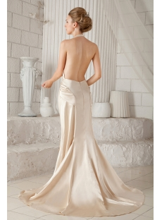 Sexy Halter Backless Bridal Gown for Summer:1st-dress.com