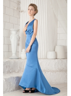 Sheath Blue Formal Evening Dress 2013