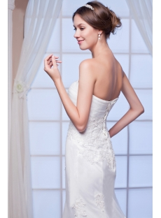 Sheath Destination Bridal Gown with Corset