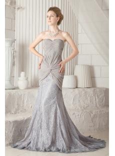 Sheath Gray Elegant Mother of Groom Dress