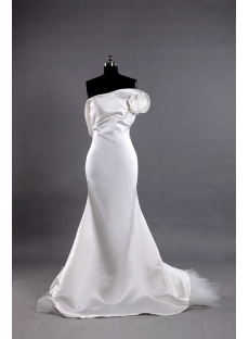 Sheath Unique Elegant Bridal Gowns with Train