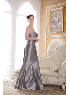 Silver Sheath Winter Prom Dress 2013