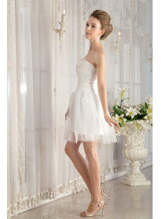 Simple Mini Summer Wedding Dress under 100