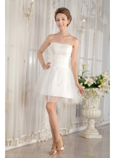 Simple Mini Summer Wedding Dress under 100:1st-dress.com