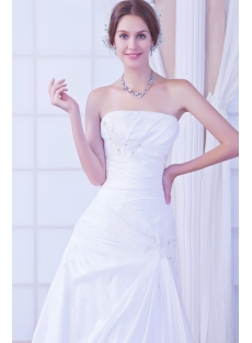 Strapless Elegant Vintage Bridal Dress with Corset