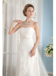 Strapless Fabulous Lace Bridal Gowns under $500