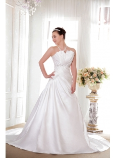Strapless Long Princess Bridal Gowns Satin