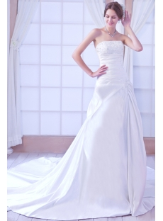 Strapless Satin Mature Bridal Gown Corset