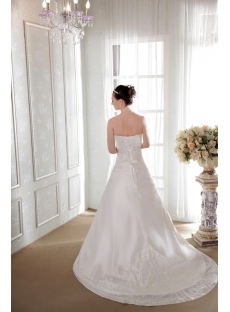 Strapless Taffeta A-line Beautiful Bridal Gowns