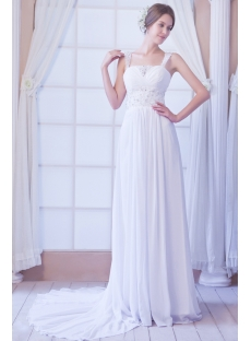 Sweet Chiffon Fall Wedding Dress Beach