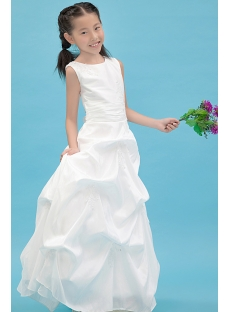 Taffeta Modest Mini Bridal Gown with Pick up Skirt
