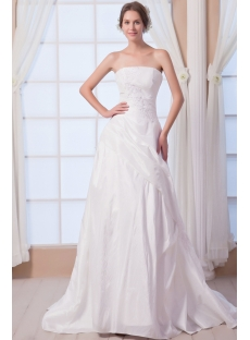 Taffeta Strapless Elegant Bridal Gowns with Corset