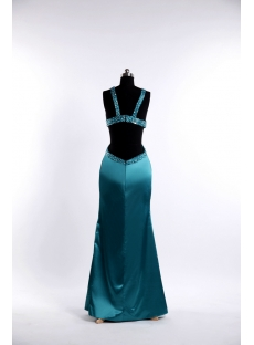 Teal Blue Sexy Celebrity Dress for Summer