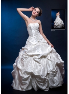 Tradition Strapless Taffeta 2011 Quinceanera Dress