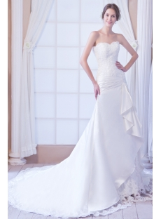 Traditional Western Satin Wedding Dress 2012