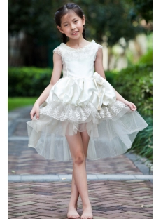 Unique High-low Hem Cheap Flower Girl Dresses