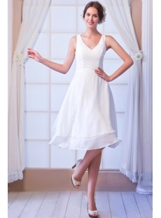 V-neckline Short Wedding Dresses under 100