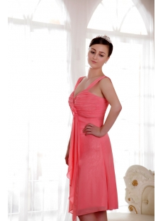Water Melon Plus Size Homecoming Dress with Straps