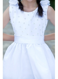 White Formal Simple Girls Party Dress Cheap