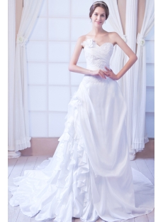 White Taffeta Affordable Bridal Gowns for Spring