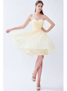 Yellow Chiffon Bridesmaid Dresses under 100 Dollars
