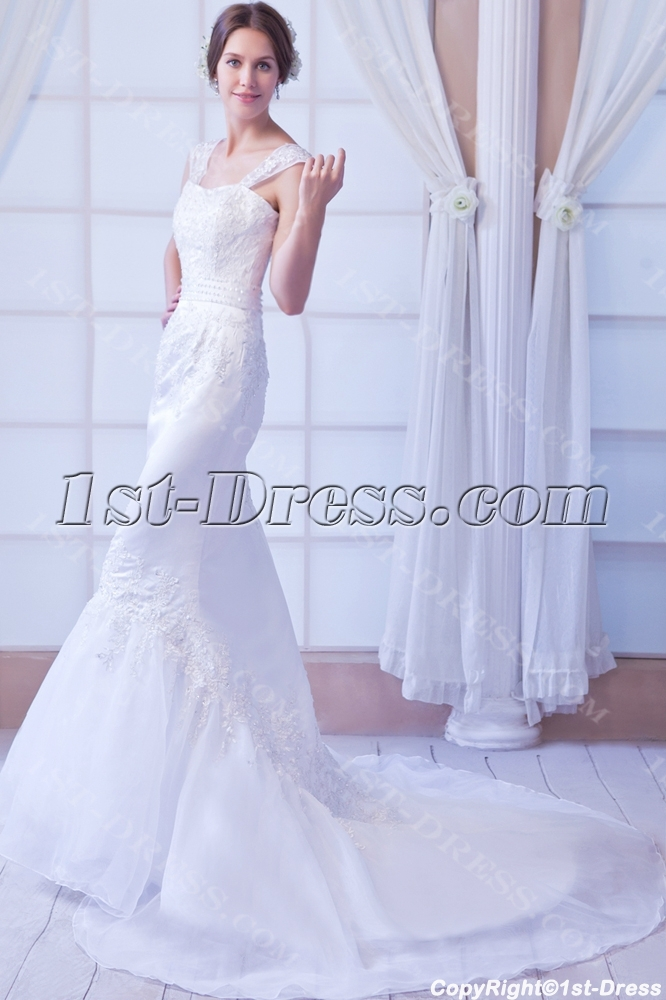 Beautiful Sheath Wedding Dress for Petite