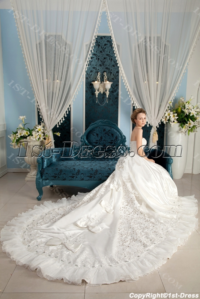 Best luxurious wedding dress in 2014 spring 1st for Big beautiful wedding dresses
