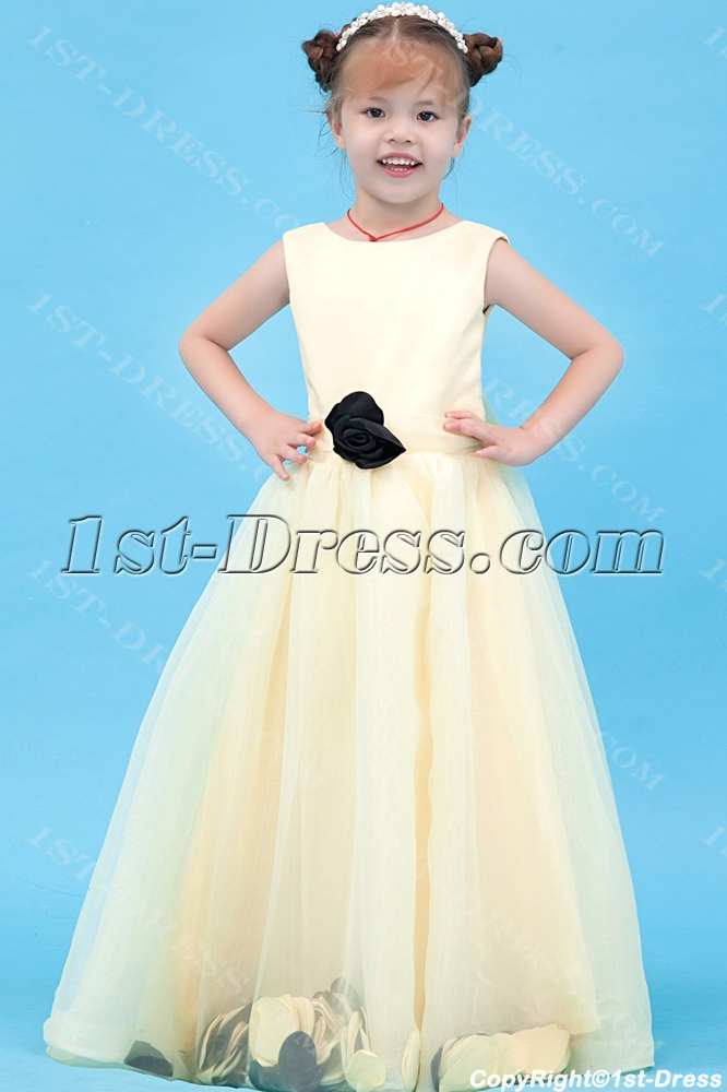 Brilliant Champagne Girl Party Dress