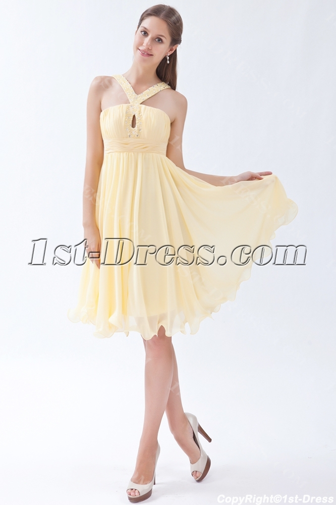 Daffodil Cute Junior Prom Dress Short:1st-dress.com